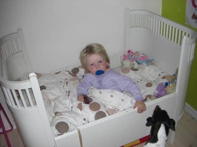Dagmar i sin nye seng