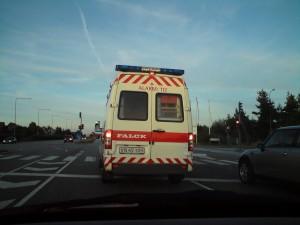 Bag ambulancen